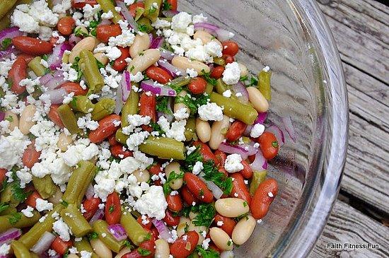 Three Bean and Feta Salad Recipe | POPSUGAR Fitness